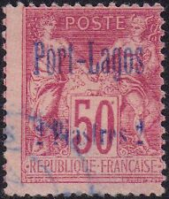 France-Port Lagos 1893 2p on 50c Red Félix François Fauresg 79 used