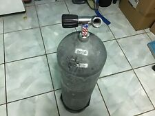 scuba tank steel 125 grey with boot