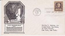 1940 C STEPHEN ANDERSON CACHET FAMOUS AMERICANS JAMES WHITCOMB RILEY POET