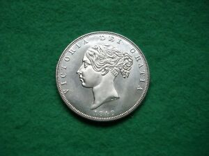 Victoria 1840 Young Head Half Crown Filler coin (not genuine) FREEPOST