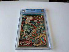 CHAMPIONS 3 CGC 9.2 PLUTO ARES HIPPOLYTA VENUS ZEUS MARVEL COMICS 1976