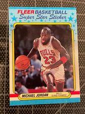 1988 FLEER STICKER 7 OF 11 MICHAEL JORDAN CHICAGO BULLS BASKETBALL CARD NM/MT