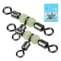 20Pcs Copper 3-Way Fishing Swivel Connector T-Turn Swivels Bass Fishing Tackle