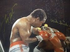 MICHAEL SPINKS & LARRY HOLMES DUAL SIGNED 16 x 20 PHOTO PICTURE JSA COA