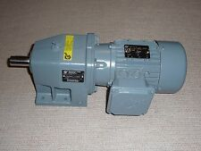 Nord AC Motor Gearbox ,SK71L/4TW, 254/440V, .37 KW, 28 rpm out