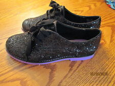 CANDIES CAPATTIE BLACK/PURPLE  GIRLS SHOES SIZE 1, NEW