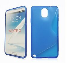 Pellicola+ Custodia cover WAVE BLU per Samsung Galaxy Note 3 N9000 9005 B6