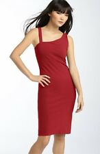 DVF Diane Von Furstenberg NOMIE Knit Stretch Asymmetric Dress Red