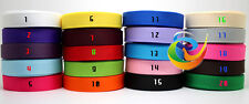 "100 Yards 3/8""9mm Grosgrain Ribbon Lots Mixed 20 Colors"