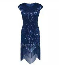 Blue Sequin Evening Dress size 12