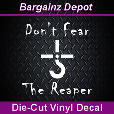.. BLUE OYSTER CULT ..  Don't Fear The Reaper .. Vinyl Car Sticker Laptop Decal