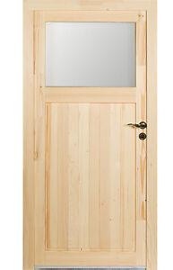 kuporta Holz Nebeneingangstür > Treysa < Holztür Nebentür Türen Kellertür Fichte