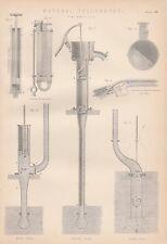 Druckluftpumpen Luftpumpen Pneumatik Luftgewehr LITHOGRAPHIE von 1890 Pneumatics