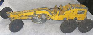 Hubley 481 Kiddie Toy Construction Road Scraper Grader Vintage! Metal!