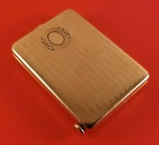 Vintage Match Compact Case With Spring Loaded Cigar Cutter Gold Tone