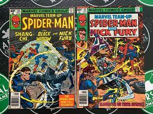 Marvel Team-Up #83 & 85 1979 NM- 9.2 Spider-Man Nick Fury Black Widow Shang-Chi