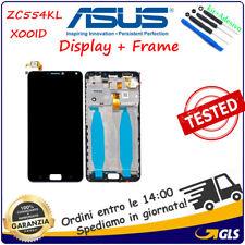 DISPLAY LCD SCHERMO e TOUCH SCREEN Asus Zenfone 4 Max ZC554KL X00ID FRAME NERO