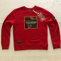 Rebel Camo Mens Red Sweatshirt Size Small Supreme CDG PLAY