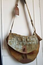 Nike Considered Linen Cotton  Leather Trim Roomy Satchel Bag