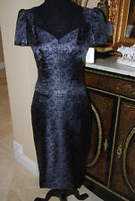 CHICK DEREK LAM SILK PRINT BLUE COCKTAIL PARTY DRESS MADE IN ITALY NWT SIZE 4