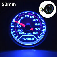 52mm Turbo Boost Pressure Pointer Gauge Meter  Dials Smoked 30Psi Pob LED
