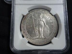 Great Britain, British Trade Dollar 1909B MS63
