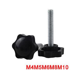 M3 M4 M5 M6 M8 M10 Plastic Star Thumb Screws Hand Grip Knob Bolts Thumbscrew