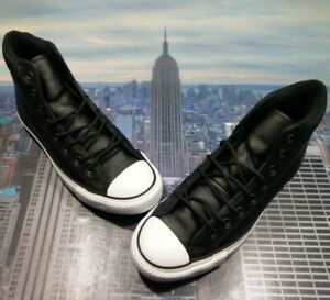 Converse Chuck Taylor All Star PC Boot High Top Black/White Size 8 162415c New