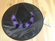 """WITCH HAT Black Nylon with Colored Accent 18"""" U PICK ONE Costume Accessory"""