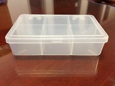2pcs Clear Plastic Box Storage Case Container with 6 compartments