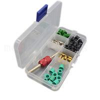 Car A/C Schrader Valve Core & Remover Tool A/C Hose Gasket Assortment Set W/Box
