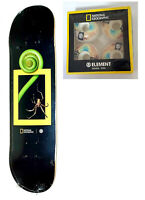 """ELEMENT x NATIONAL Geographic Spider Skateboard Deck 8.0"""" x 31.75"""" +PRISM Wheels"""