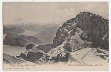 Pilatus Kulm Blick Auf Vierwaldstaettersee Glaernisch Postcard Switzerland 389a