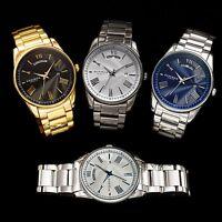 New Men's Akribos XXIV AK1039 Quartz Day Date Stainless Steel Bracelet Watch
