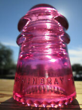 Vintage Hemingray 9 Cd 106 Glass Insulator Colored / Stained Pink