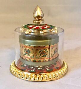 ANTIQUE HAND MADE TIBETAN BUDDHIST PRAYER WHEEL OM MANTRA Om Mani Padme