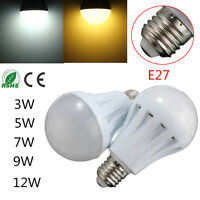 1/4/8x E27 3W 5W 7W 9W 12W LED Bulb Light Lamp Pure/Warm White AC110/220V DC12V