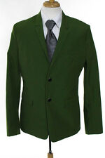 Dior Homme Mens Green Wool Long Sleeve Two Button Blazer Size IT 52 New 109546