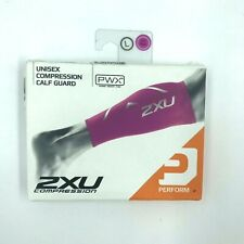 New 2Xu Womens Activewear Compression Calf Guard Hot Pink Sz L Set of 2 Open Box