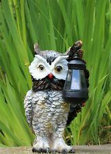 Garden Solar Ornament Owl Bird Light Up LED Lantern Statue Patio - BOXED