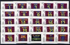 Juego completo 25 sellos FCBARCELONA temporada 2010-2011 football fcb stamps