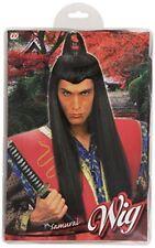Widmann Parrucca modello Samurai con Fregio sul Capo Nero Giocattolo