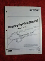 Crosman 761XL Service Manual With Exploded View