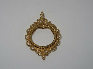 Attractive 9ct Yellow Gold Full Sovereign Pendant Mount - 5.3g - 1970's