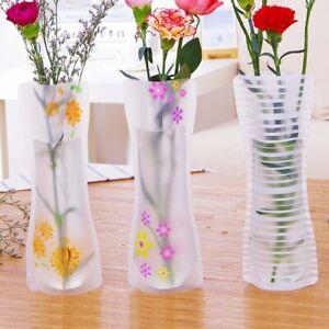 3pcs Portable Eco-friendly Flower Cute Foldable Vase  Wedding Office  Decoration