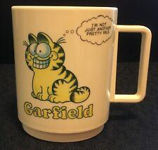 Garfield Plastic Coffee Cup 1980s