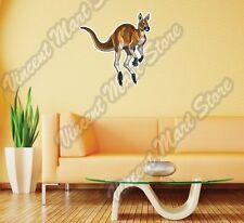 "Kangaroo Australian Wild Animal Wall Sticker Room Interior Decor 22""X22"""