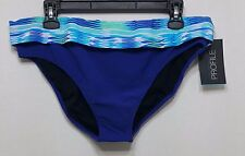 Profile by Gottex Swimsuit Bikini Bottom Size 16 Multi/Blue (i19)