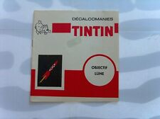 HERGE TINTIN LIVRET COMPLET DECALCOMANIES DAR OBJECTIF + ON A MARCHE LUNE TBE