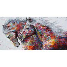 80*40cm DIY Diamond Art Running Colored Horse Holiday Gifts Needlework